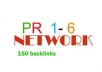 create 154 dofollow CONTEXTUALBACKLINKS in 50 posts on pr1 to pr6 blog network