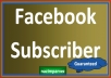  give you 300+ Facebook subscribers/followers only for
