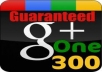 give you 25 google+ like on your website page only from real gmail account
