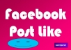 give you 50 Facebook Post Like with selected country