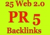 create 25 Penguin Safe PR5 High Authority Backlinks To Your Website Blog Or Youtube Video just