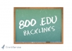get 800 EDU seo links for your website through blog comments  very soon