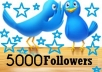 send you 5000+ Twitter FOLLOWERS no eggs to your account within 24 hour