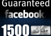 give you 1500+ Facebook Fans Likes to your fanpage within less than 15 hours