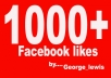 give you 1000+ Facebook likes within 48 hours To your fanpage