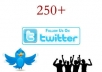 give you verified 250 twitter followers