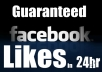 Give You 1000 FACEBOOK Likes Guaranteed On Your Fans Page