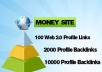 create a 12500 multi tier pyramid with 3tiers 100 Web20 high pr profiles 2000 tier2 xrumer profiles and 10000 tier3 xrumer links