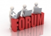 do FORUM posting and add your link in signature manually