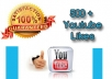 add 500+ genuine, real and Permanent YOUTUBE video likes