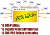 genuinely Exposed Your Site by Building 49 Quality SEO Backlinks out of 10 PR9 Profiles, 10 Web 2 0 Properties, 10 Good Article Directories