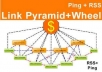 create amazing Link PYRAMID + link wheel = push with unique articles best offpage pyramid