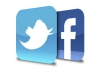  give you 500 Facebook fans likes + 500 Twitter followers in your new page within sort time