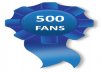 give you real 500 verified Facebook fan page like