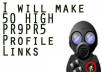 make 50 HIGH PR9PR5 Profile Links,Ping and make feed