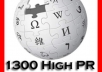 make high pr 1330 wiki contextual links from 1300 unique wiki quality sites will ping and index for extra