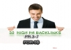 manually create 50high PR forum profile link building