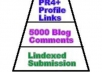 make backlinks pyramid of over 300 PR4 + tier1 social media + profiles and 5000 blog comments tier 2 and lindexed ping submission