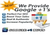give you 100+10=110 Google+1`s vote 100% real  and all votes are manage from my PVA account believe me it will work for your any kind of website URL/blog only