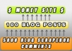 create a 2 layer pyramid with blog posts and blog comments in the 2nd layer