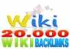 create 20000 wiki backlinks for unlimited urls and keywords just