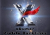 create 7200 xrumer profile backlinks in one day or less