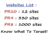 give you 1000+ PR10,PR8 and PR9 Sites List !