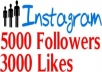 get you 12000 Instagram Followers + 5000 Instagram Likes Within 24 hours or less 
