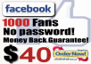 Get You 1000 Facebook Likes Without Password