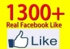 add 1300+ likes to your facebook page, facebook fanpage without admin access in 48 hours
