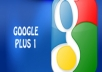 give u 100% 30+ manual google+1 in 1 day