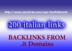 create 100 links from italian .it domains,  nofollow, scrapebox blog comments