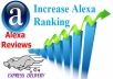 improve your ALEXA ranking overnight, get all your websites into Alexa top 1 million in 1 to 2 weeks