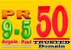 build 50 TRUSTED Angela and Paul Links from PR5 to PR9 Highly Recommended Domain for fast Indexing