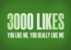 provide 3000 facebook likes to facebook page within 2 days no admin access