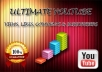 Offer you 100k views, 1000 + likes, 500 + favorites and 1000 + subscribers for your youtube video
