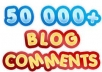 build masive 50000 blog comments with full report and pinging only just