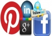 A Awesome website package: I Will Give 100+ Real Pinterest Followers & 30+ real Google+1`s & 70+ Face-book Real Fans like & 30 Twitter Followers only