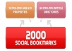 create 75 PR-3 to PR-8 seo LlNKWHEEL and 2,000 social bookmarking backlinks