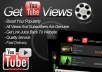Get +25,000 [Safe & Real] humans YouTube views to your video Only