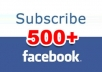 give u 1000 facebook subscribers in a short time for u'r new facebook ID