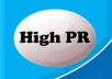 create you 20 PR9 backlinks from 20 different PR 9 high authority sites [ DoFollow, Anchor Text, Panda Penguin Frindly ] + pinging just only