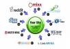 submit your site MANUALLY to 20 Social Bookmarking sites PR4 to PR8