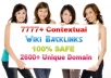 give you 7777+ google safe links from 2666+ unique domains, all backlinks  
