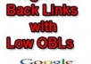 give you 100 Low Obl Backlinks, Google love this backlinks