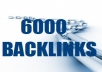 create 6000 VERIFIED backlinks for your website