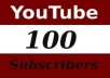 give you 110+ you-tube SUBSCRIBERS OR LIKES  for your you-tube video only