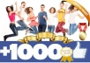 get you +1000 fan page FACEBOOK likes within 24hrs