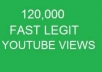 get you 120000+ Very Fast real youtube views, 35+ likes, 20+ subscribers, 10+ favorites, all in one package to boost your video