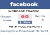 provide 60 Facebook Shares to any kind of website, blog or URL